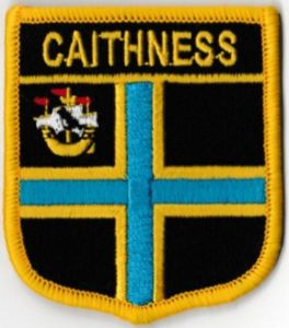 Caithness Embroidered Flag Patch, style 07